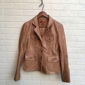 Sundance Catalog Tan Leather Jacket